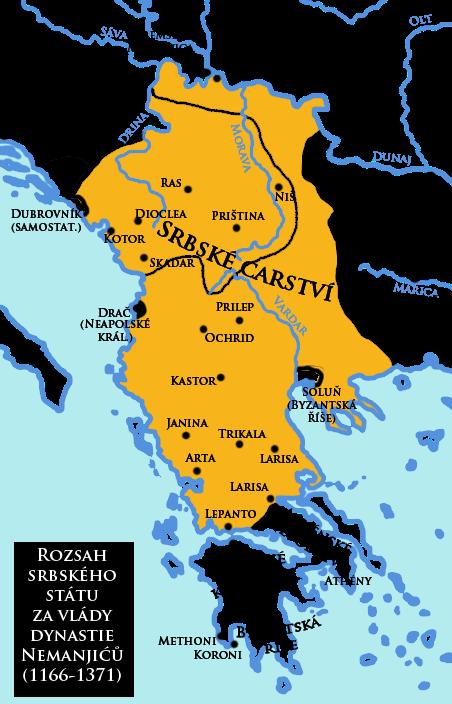 Serbia at its territorial peak (1371)