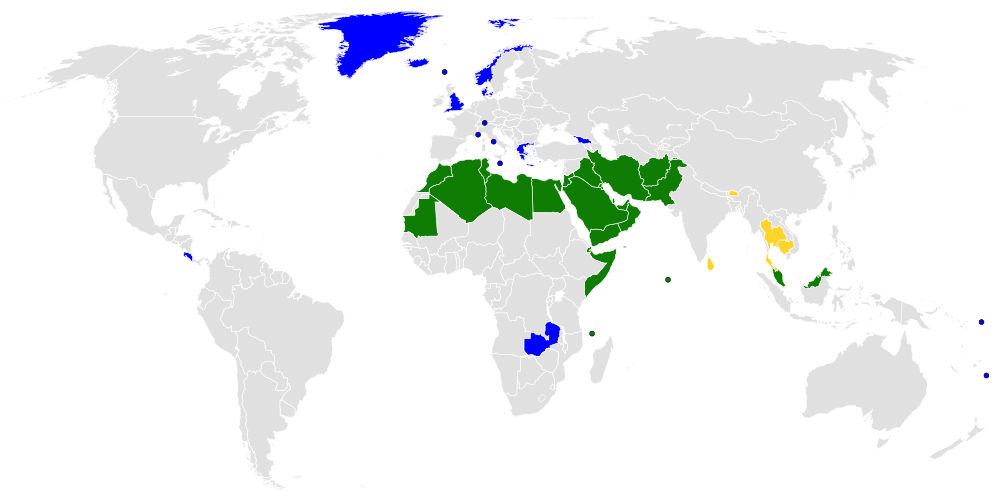 Countries that have an official state religion
