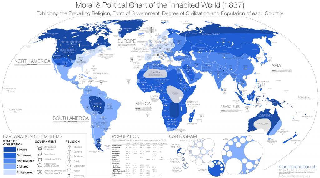 Inhabited World in 1837