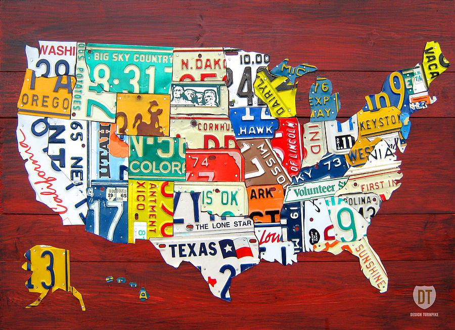 License plate map - Vivid Maps