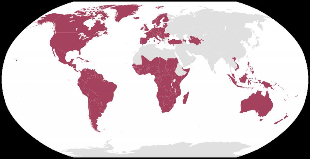 Latin script in the world