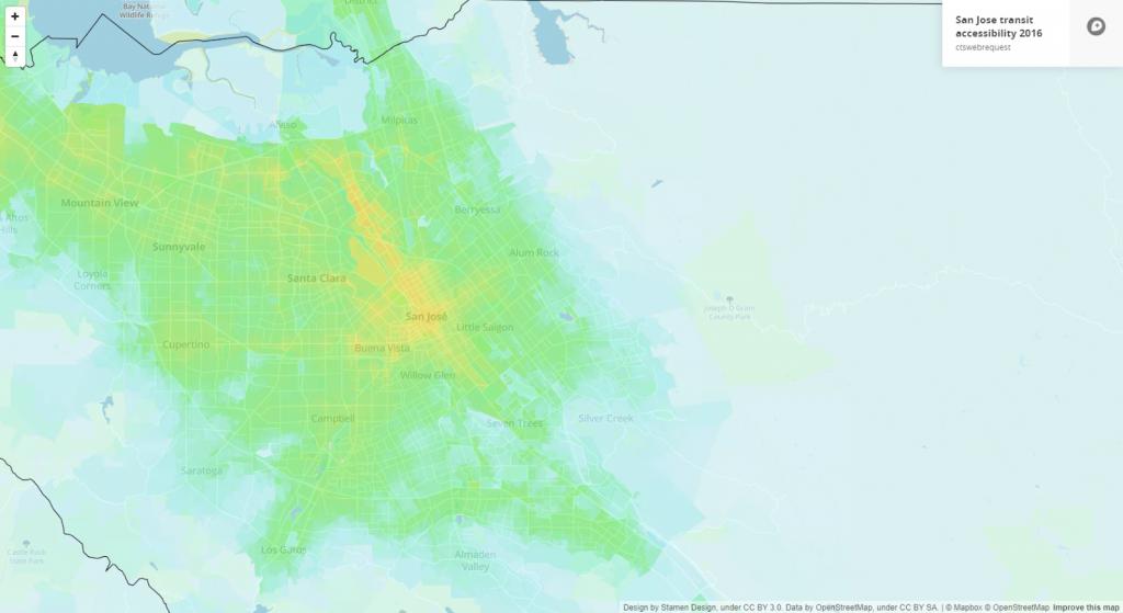 San Jose transit accessibility