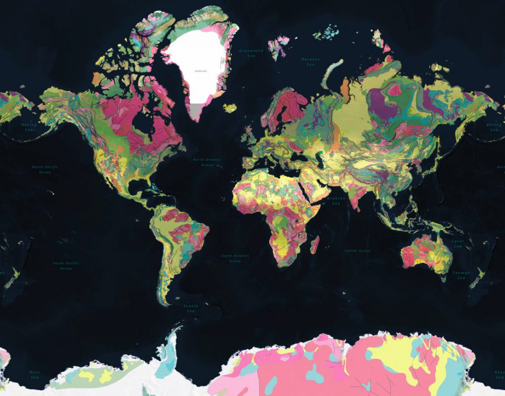 Interactive geologic Map