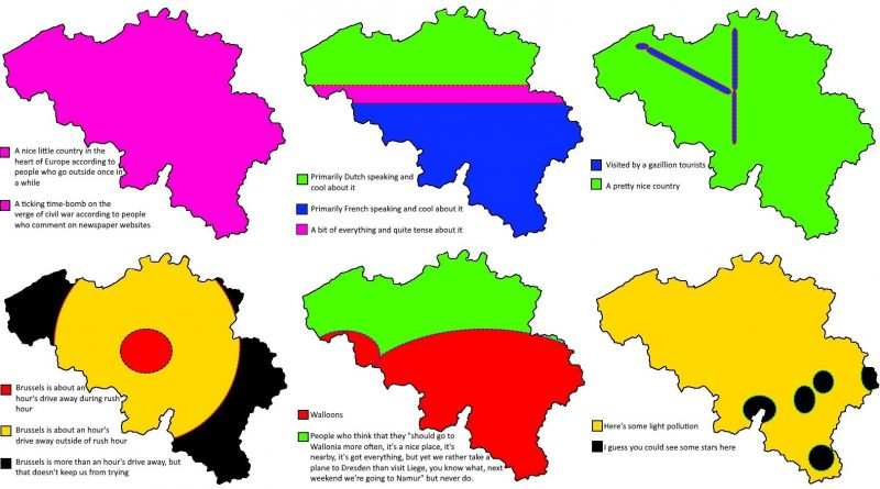 Six ways to divide Belgium