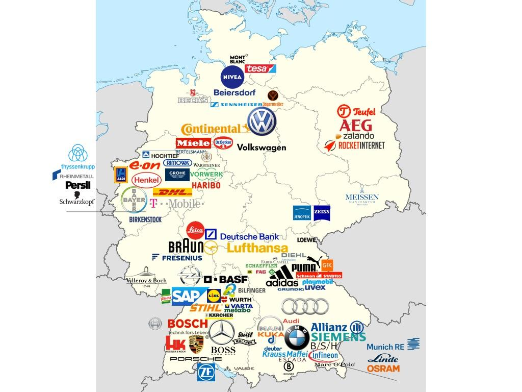 map of most valuable german brands vivid maps. Black Bedroom Furniture Sets. Home Design Ideas