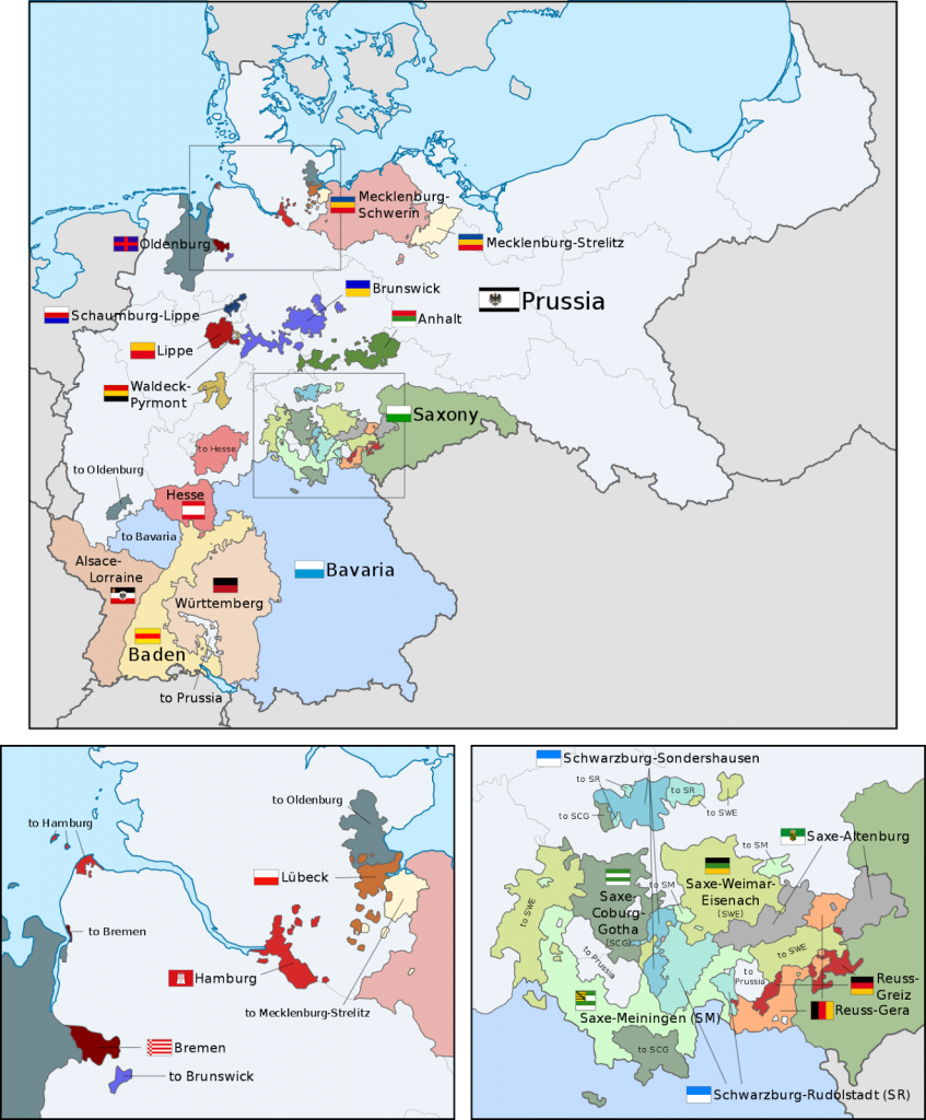 Organization of the German Empire in Europe (1871 - 1918) - Vivid Maps