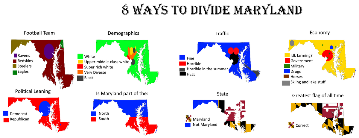 8 Ways to divide Maryland