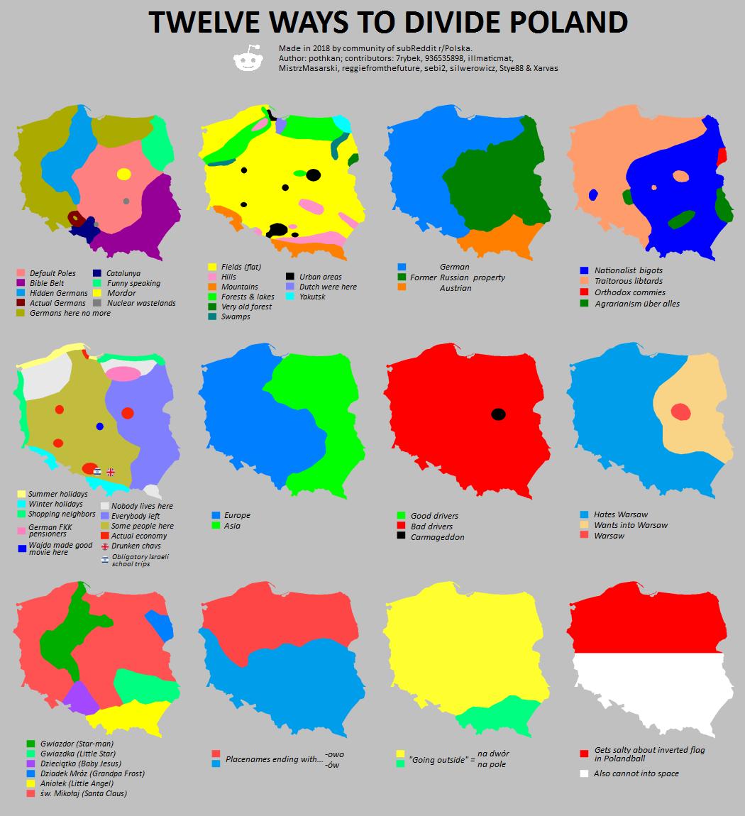 12 Ways to Divide Poland