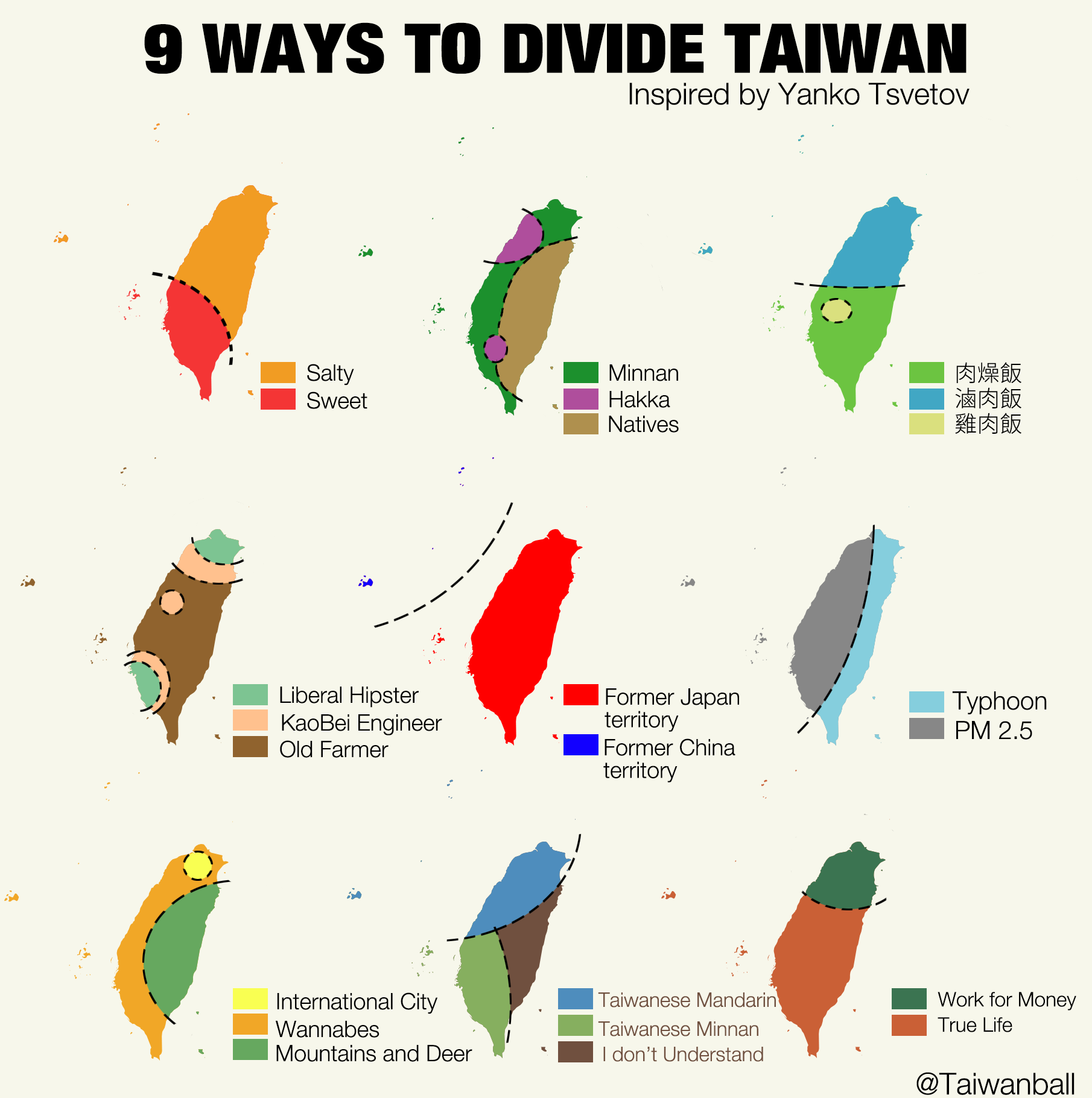Nine Ways to Divide Taiwan