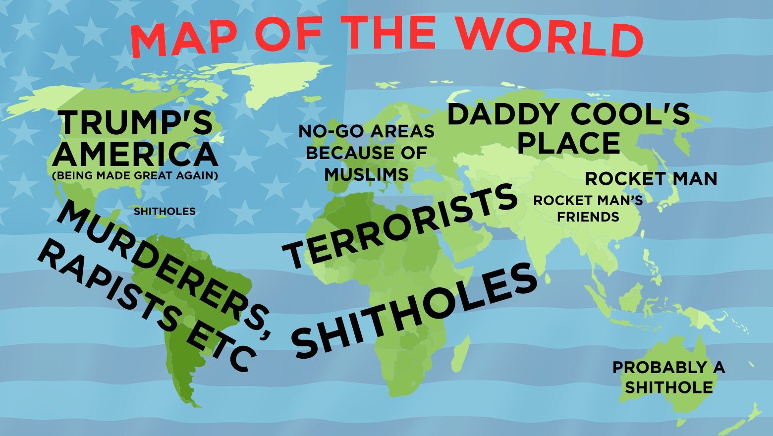 Tramps map of the world