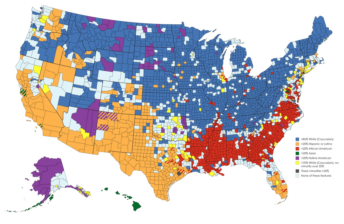 The definitive US counties demographic map