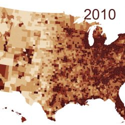 Animated map of population density in the U.S. (1790 - 2010)