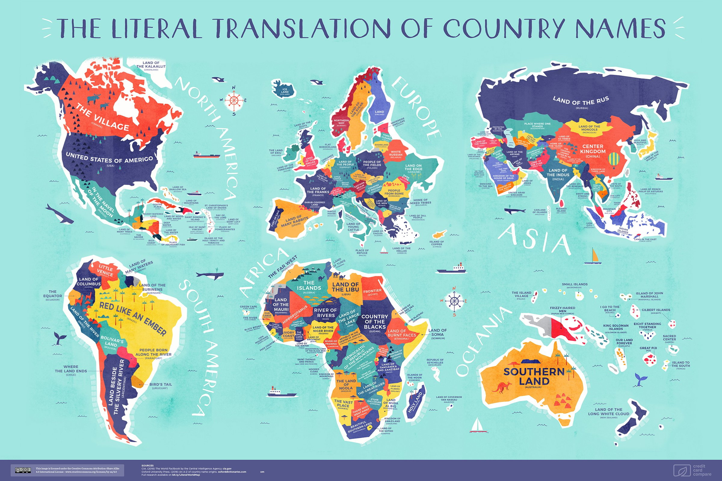 The Literal Translation Of Country Names Vivid Maps