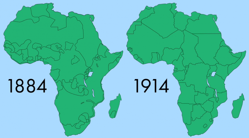 Boundaries of Africa: 1884 vs 1914