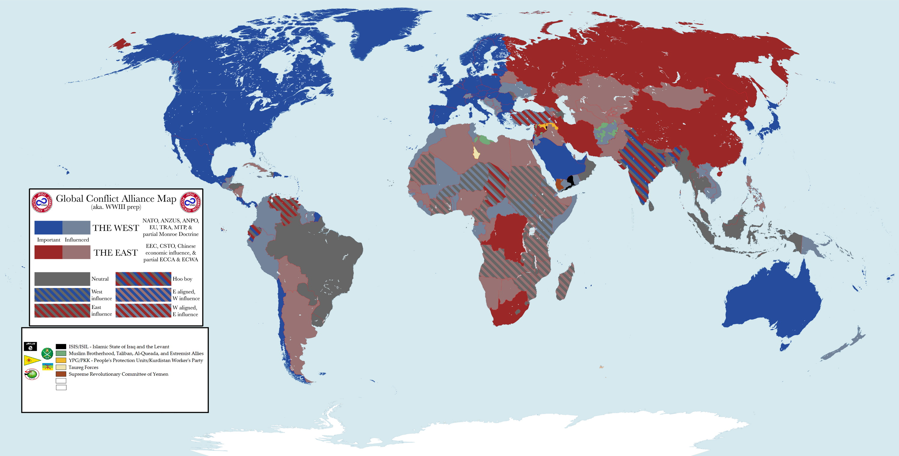 Current military alliances in the world