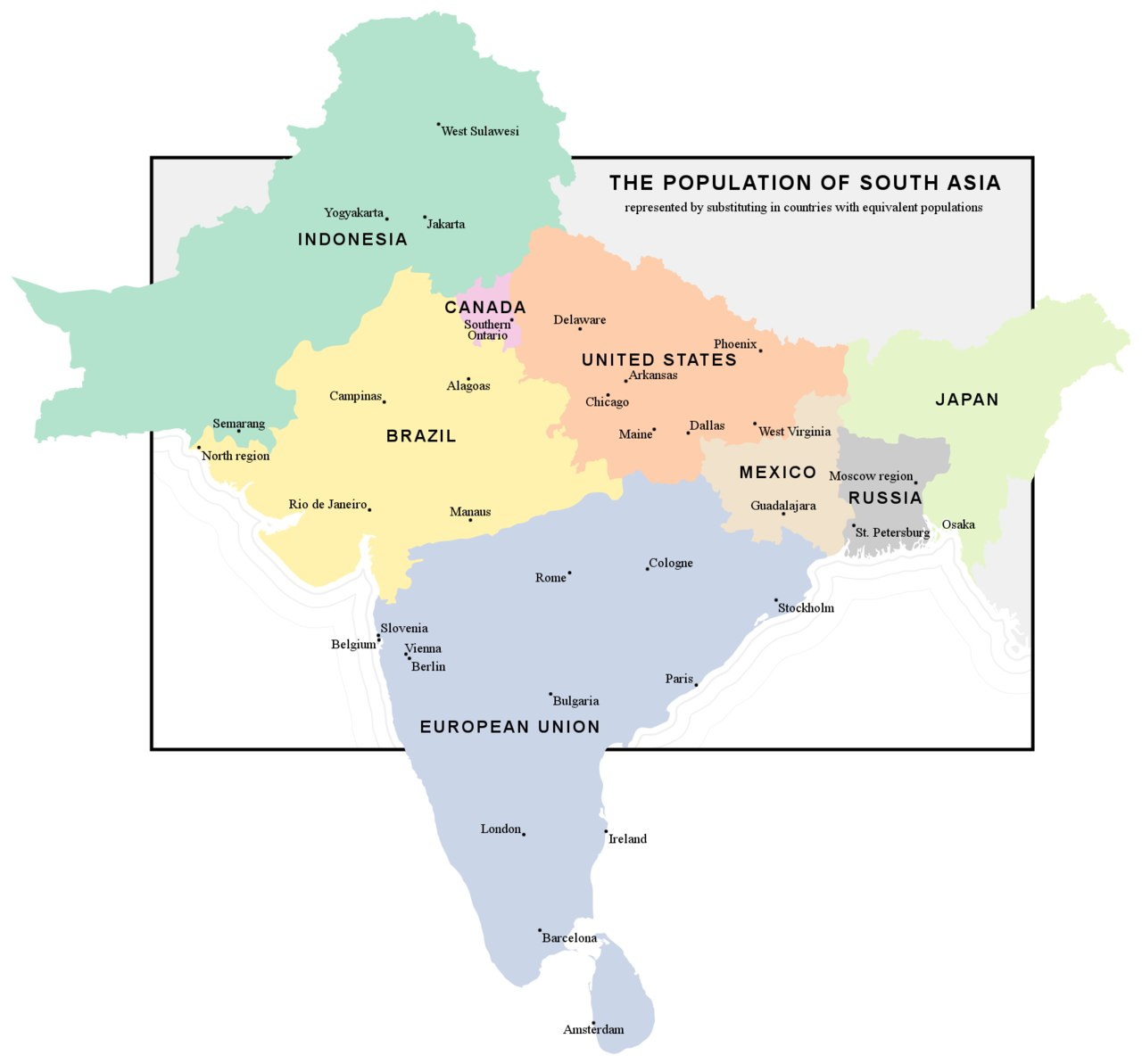 Population of South Asia