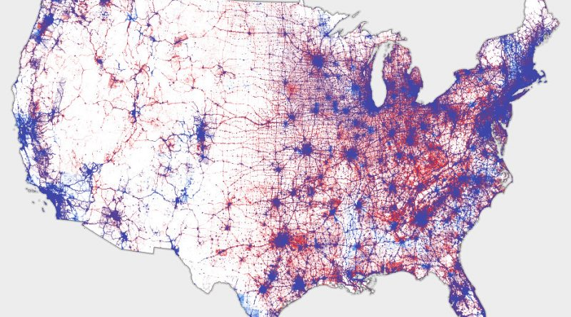 U.S. Election: dot map