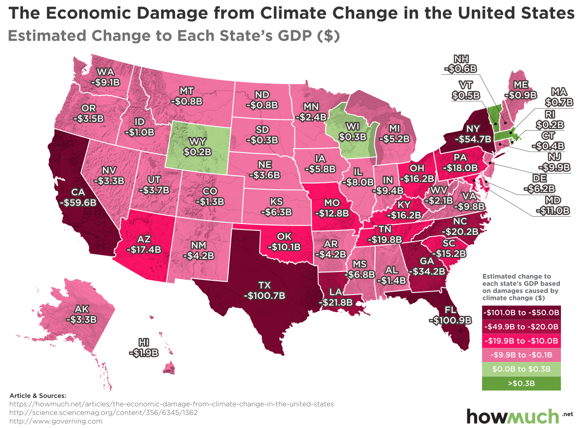 the Economic Destruction of Climate Change in Every U.S. State