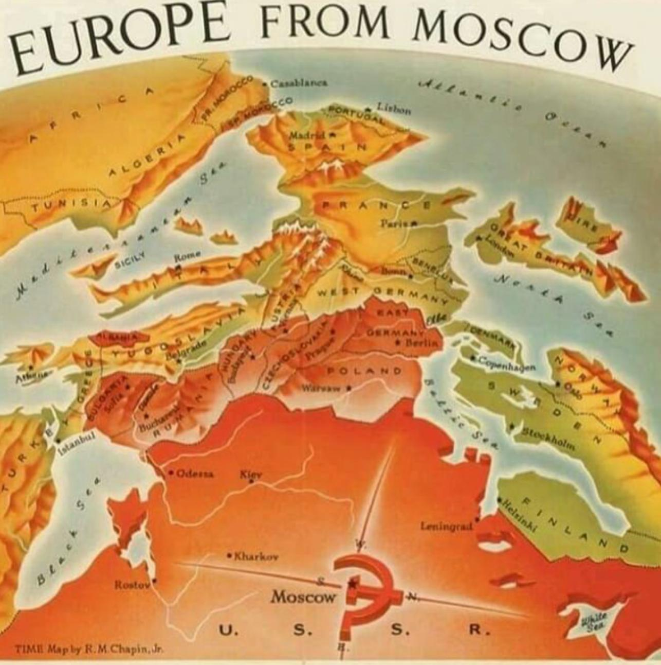 Europe from Moscow in the Cold War