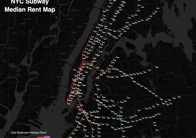 The New York City Subway Rental Map