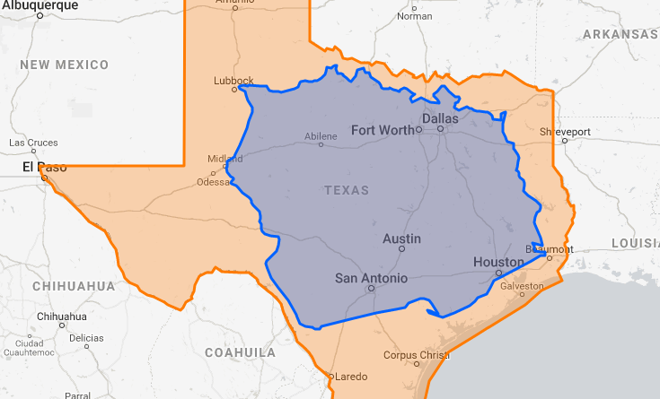 Size of Texas