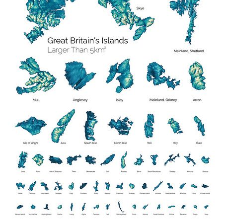 Great Britain's Islands larger than 5 km2
