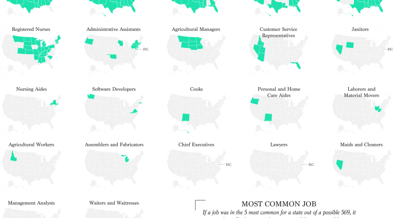 Most Common Jobs, By State