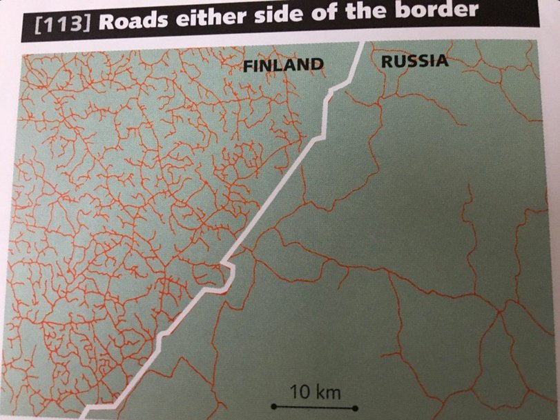 Road density: Russia vs Finland