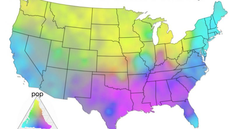 /pop/soda/coke map with a trivariate color encoding