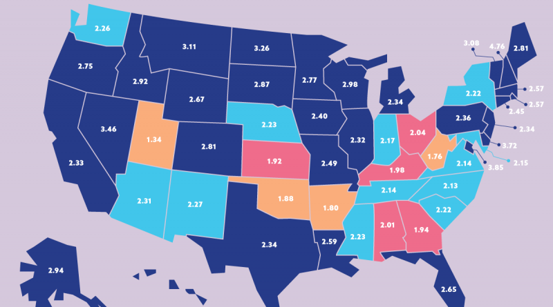 U.S. States with highest consumption
