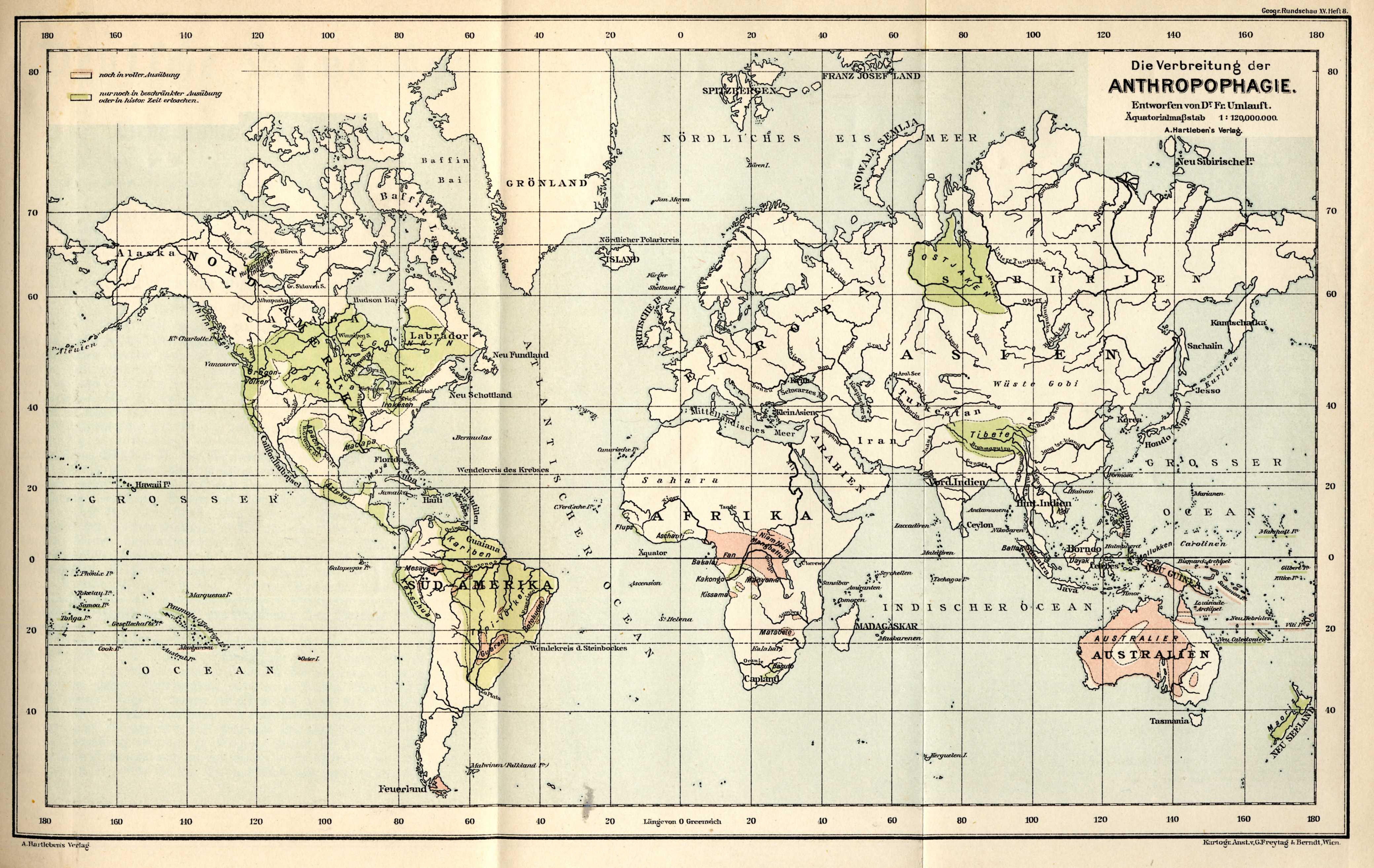 The Cannibal Map of the World (1893)
