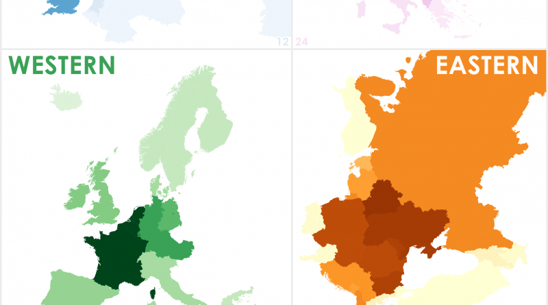 Identifying Regions of Europe using Multiple Maps through Various Sources