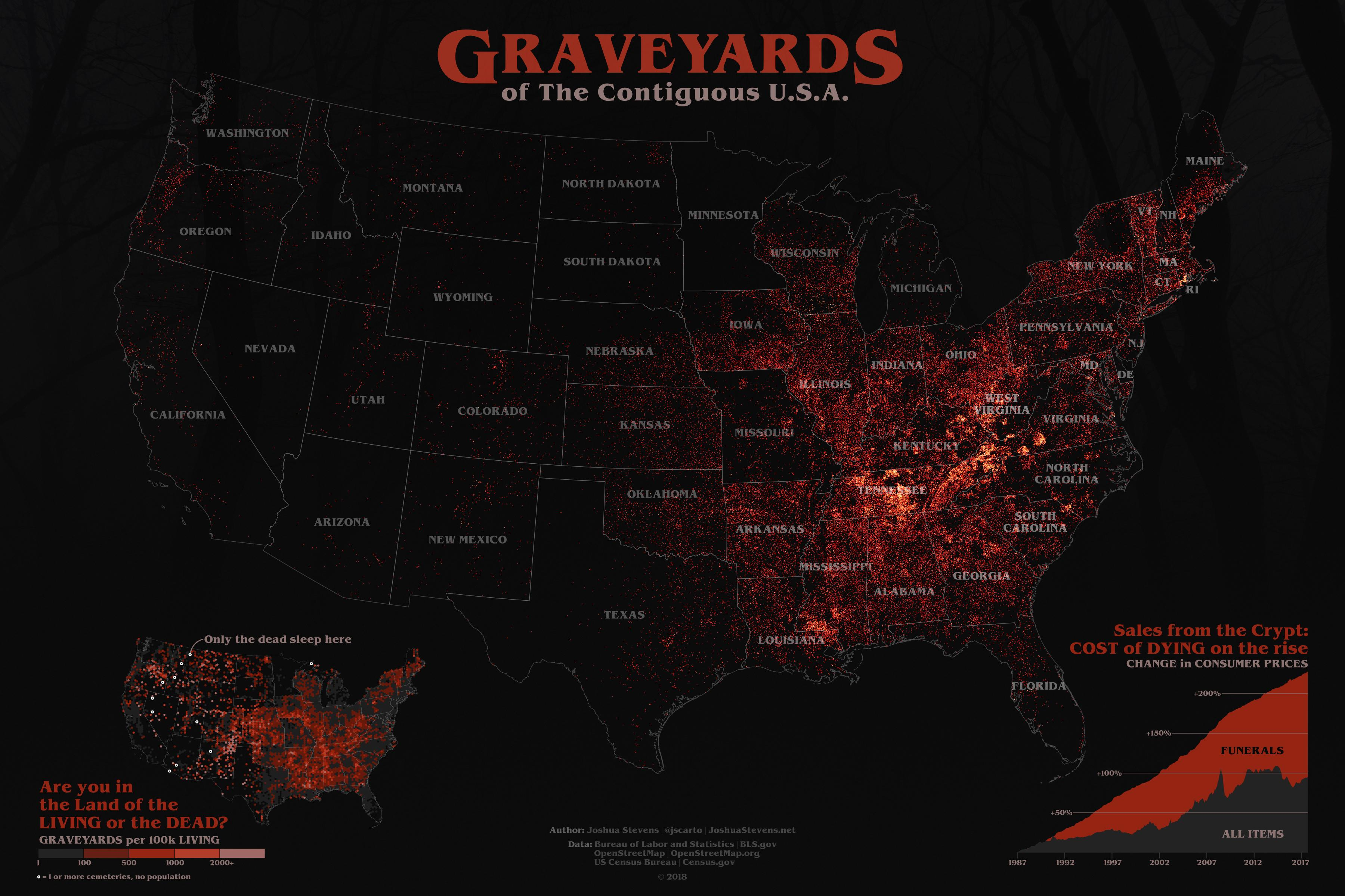 Graveyards of the contiguous United States
