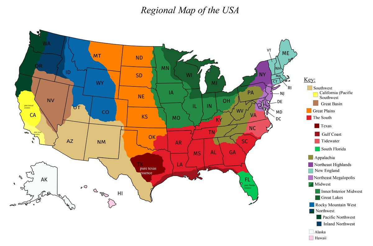 Regions of the United States - Vivid Maps