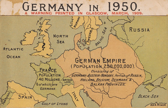 Expansionist goals of Germany during the first and second world war