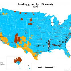 Leading group by U.S. county (1990 - 2017)