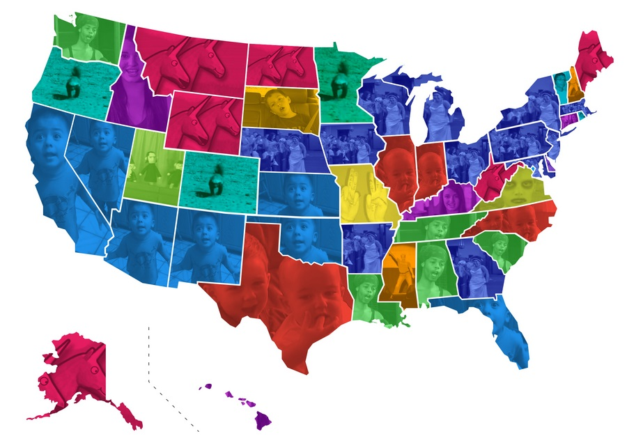The most viral video in each state