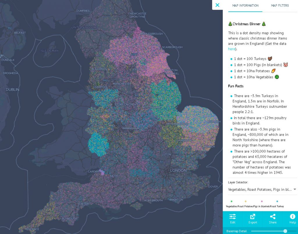 The Christmas Dinner interactive map