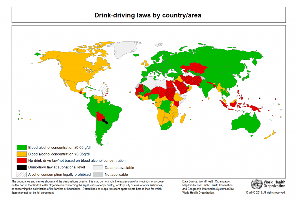Drink-driving laws by country