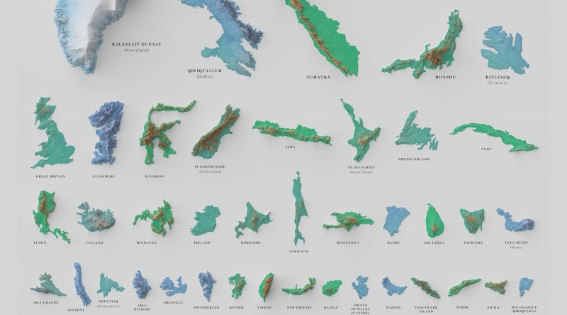 The World's hundred Largest Islands, Side by Side