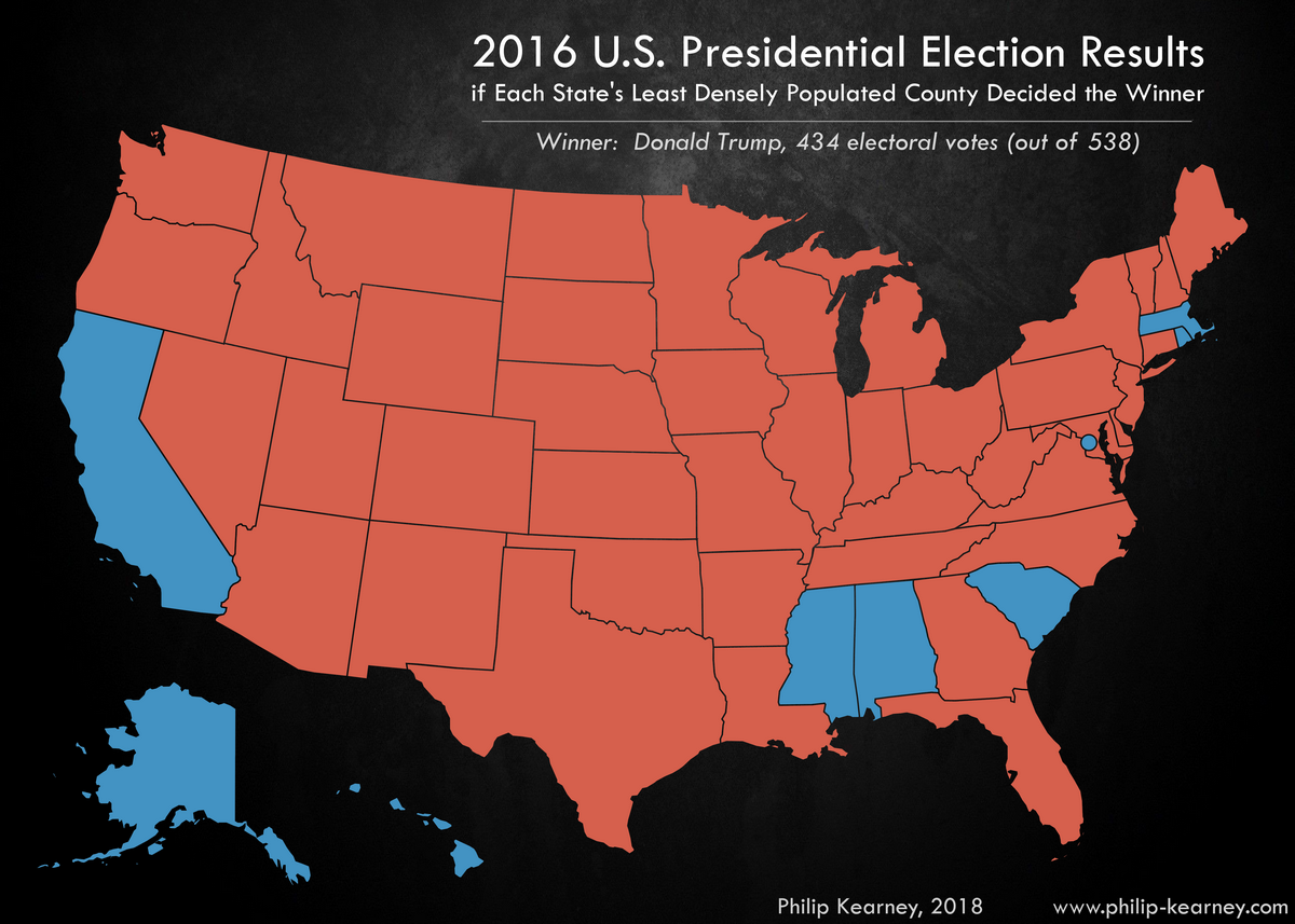 Us Presidential Election 2016 Vivid Maps - Us-presidential-election-map-2016