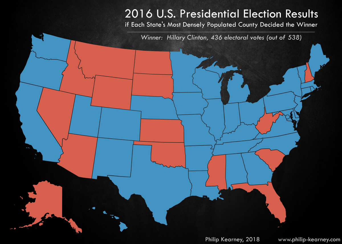 Us Presidential Election 2016 Vivid Maps - Us-county-map-election