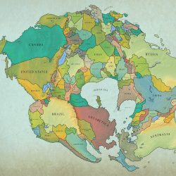 How Earth Will look With Current International Borders in 250 million years