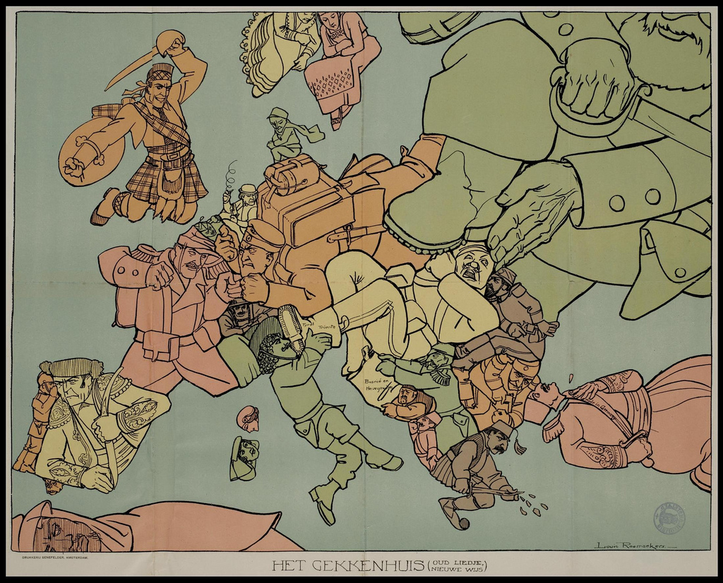 Satirical Maps of the World War I