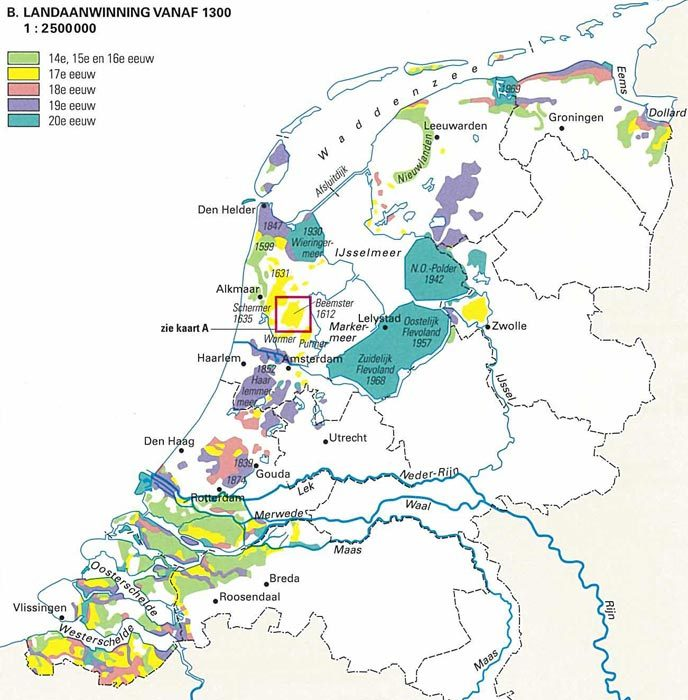Land Reclamation in the Netherlands since 1300