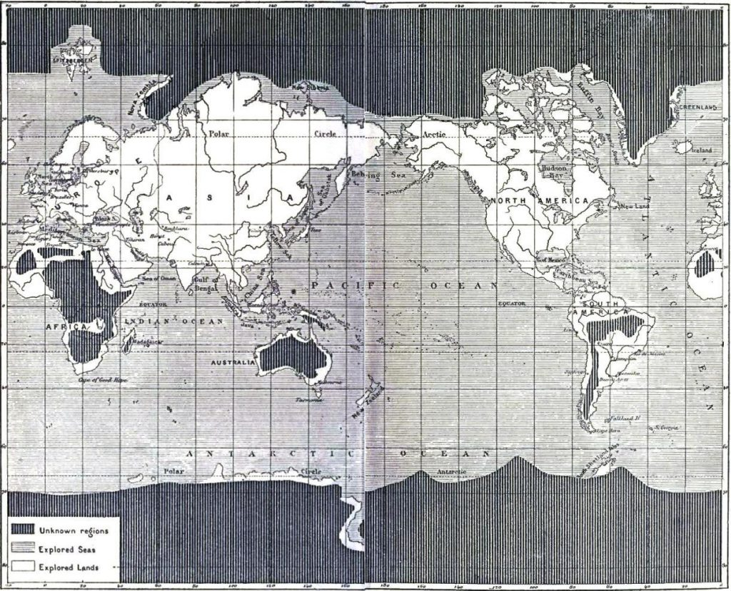 Map of the Unexplored World (1881)
