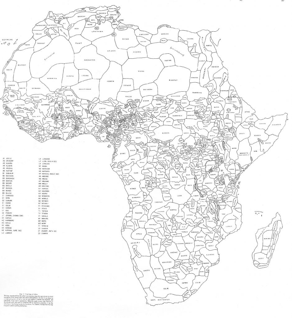 Map of Africa using ethnically drawn borders, rather than those drawn by imperial powers