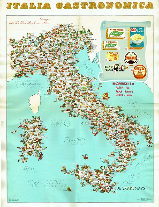 Gastronomic map of Italy (1962)