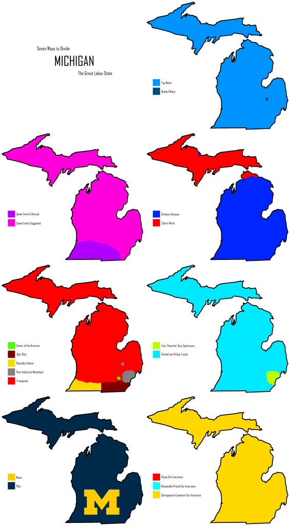 Six ways to divide Michigan
