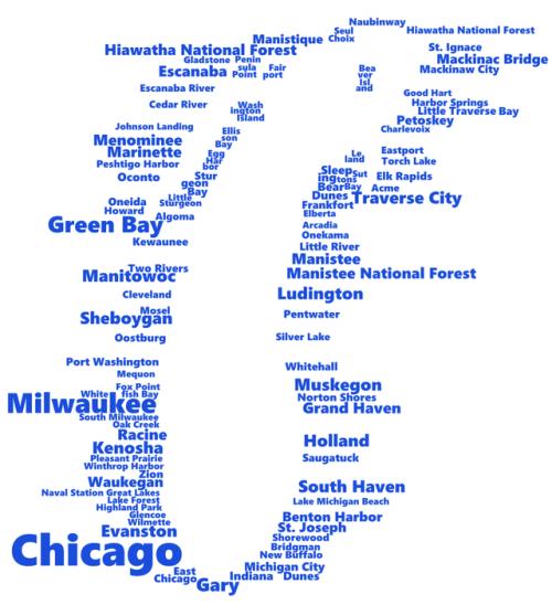 Lake Michigan in Words